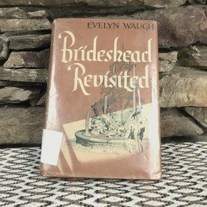 Vintage Book Brideshead Revisited Red Decor Table
